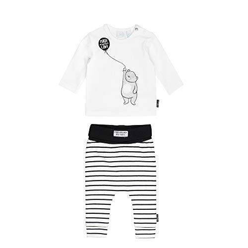 Feetje Feetje Baby-Jungen Zweiteiliger Sweat-Anzug Bear, schwarz-weiß, 56