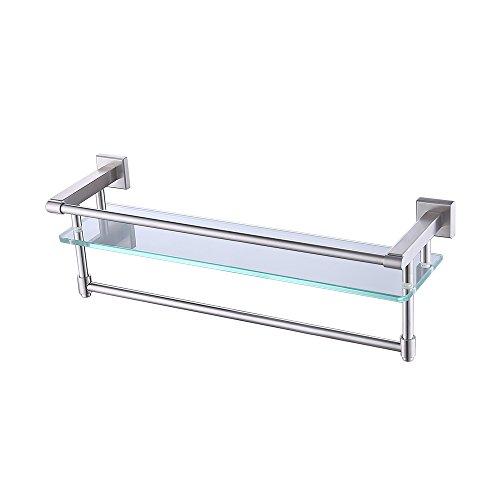 Kes mensola angolare da bagno con fondo in vetro temperato? 1 ripiani, 2 portasciugamani girevoli, a2225-2