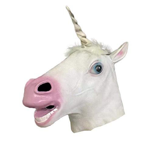 Kostüm Kinder Furchtsame Gesicht Geist - WSJMJTM Pferd Gummi Tier Maske Latex Party Tier Maske Kinder Party Halloween Maskerade Maske Lustige VollgesichtsParty Geschenk