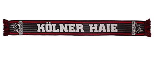 Kölner Haie Fanschal Stripe, Schwarz, one Size