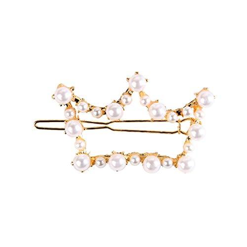ZIYOU 1 Frauen beliebte koreanische Mädchen süße Haarnadel Perle Dekor Frauen Haarspange (8cm, Multicolor A) - Perlen Wolle Anzug