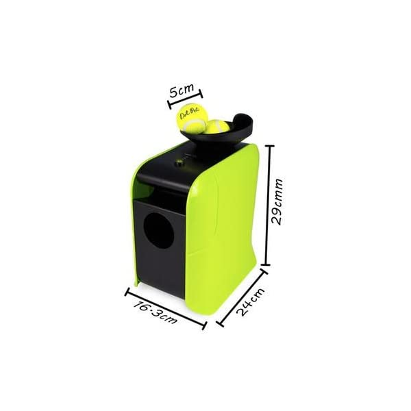 electriQ Automatic Dog Ball Launcher with Treat Dispenser 8