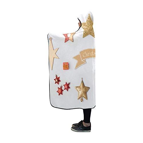 JOCHUAN Mit Kapuze Decke Weihnachtsstern Dekorationen Sammlung Mock Vorlage Decke 60 x 50 Zoll Comfotable Mit Kapuze werfen Wrap -