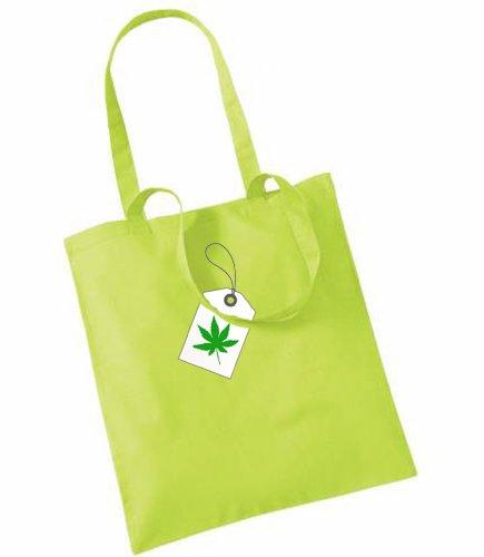 Hash Tag Gedruckt Auf Tote Taschen Grün - Lime