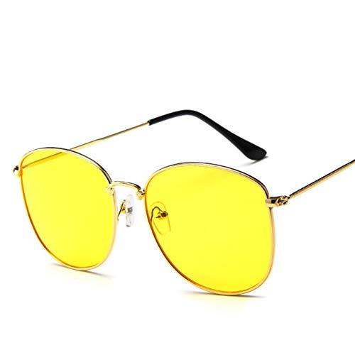 AAMOUSE Sonnenbrillen Ocean Slice Sonnenbrille Frauen/Männer Metall Brille Dame RundeRetroSonnenbrilleVintage Spiegel Oculos