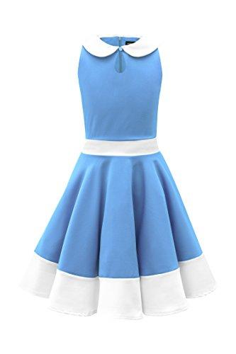 BlackButterfly Niñas 'Zoey' Vestido Clarity Vintage Años 50 (Azul, 11-12 Años)