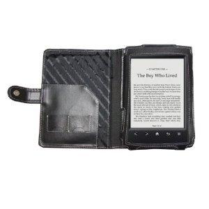 Navitech schwarze Bycast Leder Case / Cover / Tasche im Buch Stil für das neue Sony PRS T2 Touch Screen E-reader (August 2012 Ausgabe) August Tasche