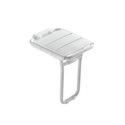 QXJPZ Klappstuhl Wandbehang Stuhl Badezimmer Bank Dusche Zimmer Wand Stuhl Alter Mann (Farbe : Weiß)