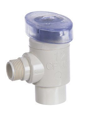 King Brothers Inc. CAV-0500-38C 1/2-Inch Slip by 3/8-Inch Compression PXL CPVC Quarter Turn Angle Supply Valve, Tan by King Brothers Inc. (Cpvc Slip)