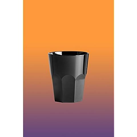 6pezzi Long Drink San (acrilico) 27cl Nero effetto Caipirinha