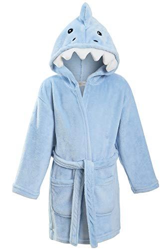 Scruffy Ted - Albornoz - Manga Larga - para niño tiburón 3-4 Años