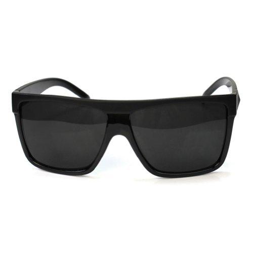 RHX Fashion Retro-Sonnenbrille, Plastikrahmen, Schwarz