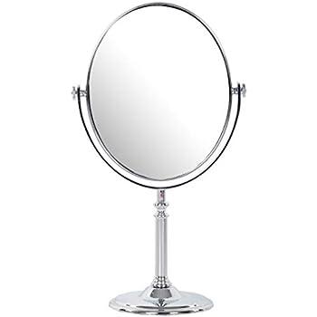 Kriva Plastic Vanity Mirror (2.5 cm x 30 cm x 19.5 cm, Silver)