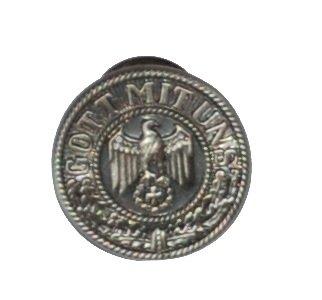 Original Handycop® Ansteckpin P90764 PIN aus Metall für Sammler Motiv - Eisernes Kreuz mit Adler - Gott mit uns (Kreuz Adler)