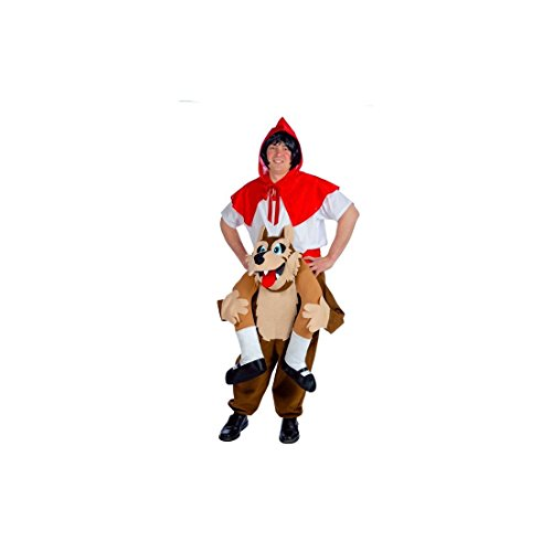 Disfraz de Lobo llevando a Caperucita para adultos