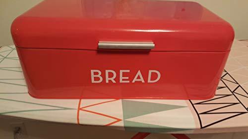 Juvale Inspirado Vintage Retro Bread Box - Rojo - Pan Bin y Almacenamiento de contenedores - 16,75...