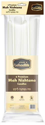 ver Pesach Seder Große Kerzen Mah Nishtana Kerzen, 8-9 Stunden Brenndauer, 4 Stück ()