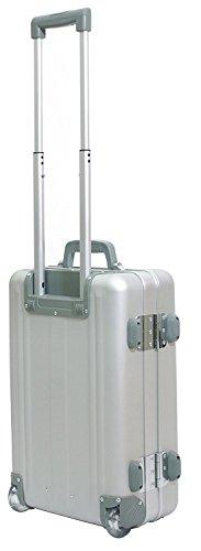 Maleta de cabina aluminio plateado con trolley el rodillo 49009