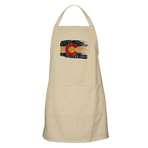CafePress-Colorado Flagge-Küche Schürze mit Taschen, Grillen Schürze, Backen Schürze khaki -