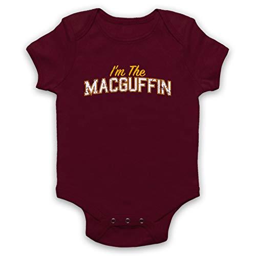 My Icon Art & Clothing I'm The Macguffin Funny Plot Device Slogan Babystrampler, Burgund, 18-24 Monate -