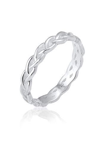 Elli Damen-Stapelring Knoten Twisted 925 Silber Gr. 58 (18.5) - 0605781817_58