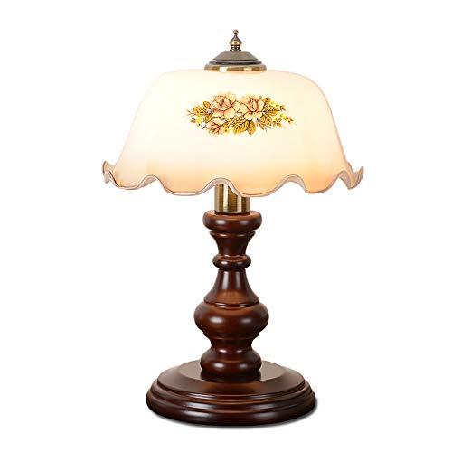Britisches Retro- klassisches Holz, das altes Shanghai-Lampen-Dekoration-amerikanisches Hirtenschlafzimmer-Nachttisch-Schreibtisch-Licht E27 dimmt (Größe : Ordinary switch)