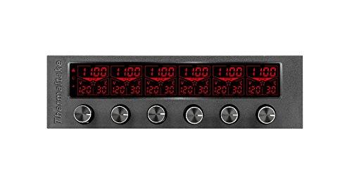 Thermaltake Commander F6 RGB LCD 6 Kanal Single 5.25 Zoll Bay Fan Controller AC-024-BN1NAN-A1 (Bay Ac)