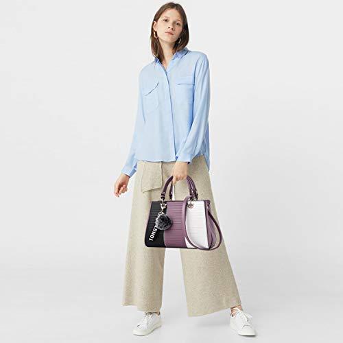 NICOLE&DORIS Dame Handtaschen Reisetasche Schultertasche Taschen Umhängetasche PU Lila