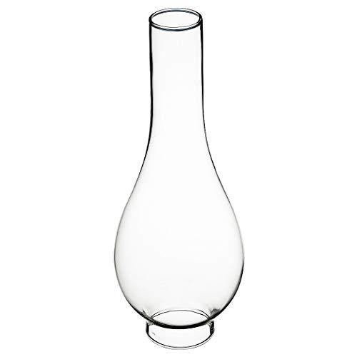 Delite Glaszylinder transparent, unterer Durchmesser außen 42 mm, innen 39,5 mm, Bauchdurchmesser 82 mm, Höhe 220 mm, für Petroleumlampe MIRO und andere Lampen (Glaszylinder Für öllampe)