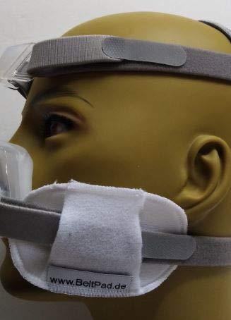 CPAP-Atemmasken Gurtpolster weiß mit Klettverschluß Polster gegen Kopfbanddruckstellen bei CPAP-ATEMMASKEN