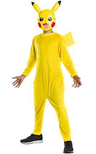 Rubie´s 700246L Kostüm Unisex Children Mehrfarbig Large Age 8-10, Height 147 - Pokemon Pikachu Kostüm
