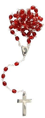 Rosenkranz Glas rot (Glas-rosenkranz Rot)