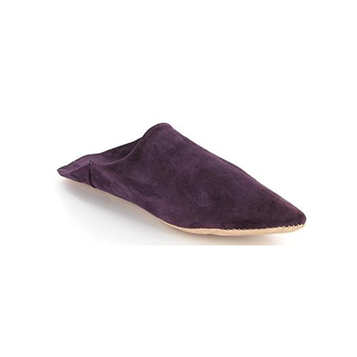 Babouches femme pointues daim Taupe 37) Taupe