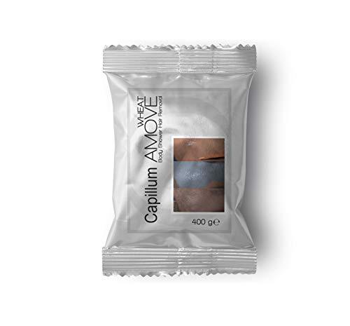 Capillum AMOVE Wheat [Geruchlos] 400g Sparpackung - Schmerzfreies Dusch Haarentfernungscreme Pulver für Mann & Frau mit Weizenstärke zur Hautpflege & - Schutz