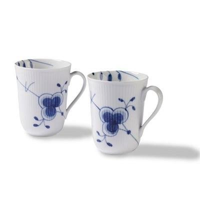 Royal Copenhagen Blue Fluted Mega Mug (Set of 2) 11 oz by Royal Copenhagen