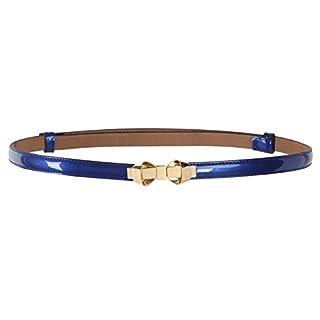MUXXN Women's Summer Adjustable Elastic Belt with Bowknot Buckle (Color Blue)