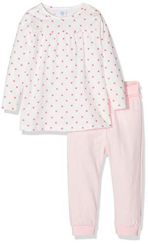 Sanetta Baby-Mädchen Zweiteiliger Schlafanzug Pyjama Long, Beige (Broken White 1427), 86