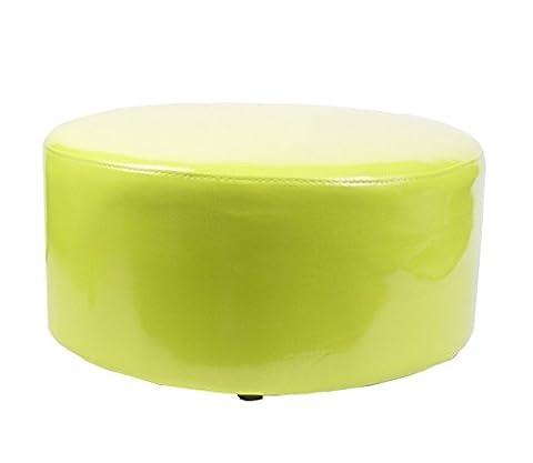 Fauteuil Vert Anis - Tabouret pouf rond -Style moderne - Coloris