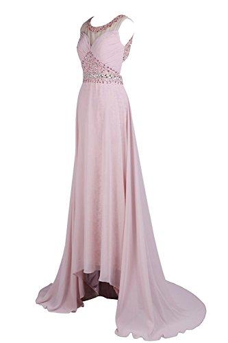YiYaDawn Langes Rückenfreies Abendkleid Hochzeitskleid für Damen Königsblau