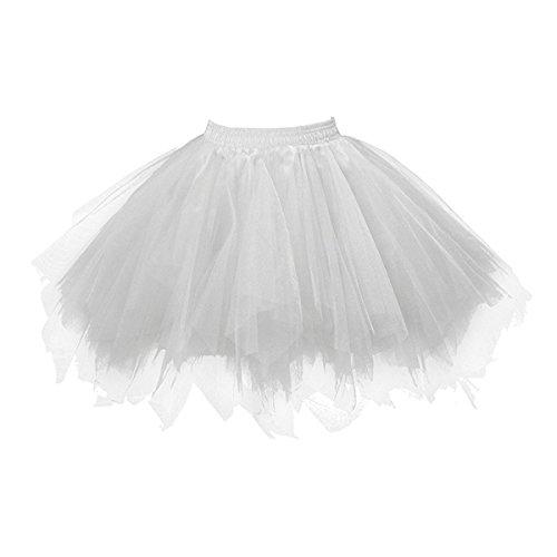 Honeystore Damen's Neuheiten Tutu Unterkleid Rock Ballet Petticoat Abschlussball Tanz Party Tutu Rock Abend Gelegenheit Zubehör Silber Grau