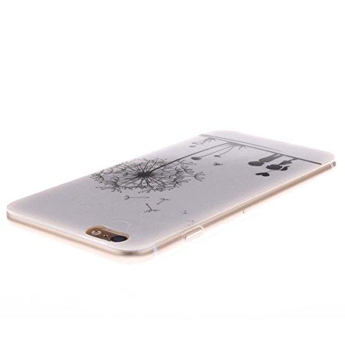 iPhone 6 Plus 6S Plus Custodia Slim Leggero Flessibile TPU Immagine Mandala Case per Apple iPhone 6 Plus 6S Plus 5.5 Nero Colore-3