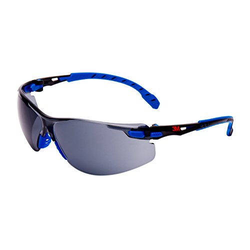 3M Solus Safety Glasses, Blau/Schwarz frame, Scotchgard Anti-Fog, Grey Lens, S1102SGAF-EU