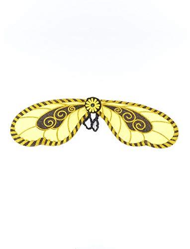 Luxuspiraten - Kostüm Accessoires Zubehör Kinder Flügel im Hummel Bienen Look, Wings Bee, perfekt für Karneval, Fasching und Fastnacht, Gelb (Bee Flügel Kostüm Zubehör)