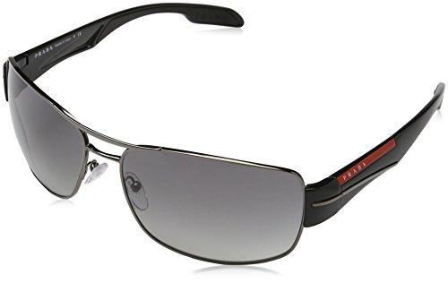 Prada Sport Herren Mod. 53Ns Sole Rechteckig Sonnenbrille, 5AV3M1 (Pradas Für Männer)