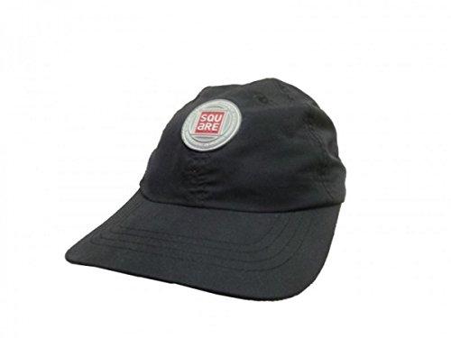 Square Skateboard Cap Polo Tek Black, Cap Size:S/M Adio Hat