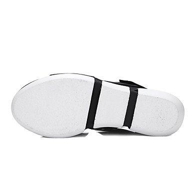 Sommer Schuhe Damen Sandalen Büro Lässig Kleid-Lackleder Mikrofaser-Keilabsatz-Komfort Club-Schuhe-Blau Blue