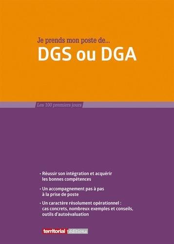 Je prends mon poste de DGS ou DGA par M Fabrice Anguenot