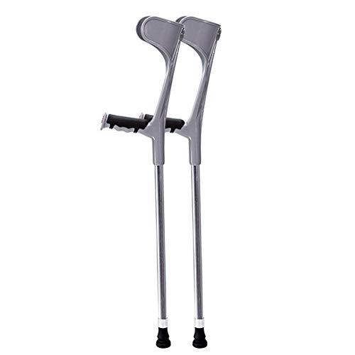 SXFYMWY Tragbare Crutch Leicht aluminiumlegierung Multifunktions Non-Slip Arm Cane geeignet für Menschen mit unbequemen Beinen und Füßen,Silver,B Non-slip-gummi