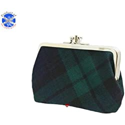 Purse Medium Sized Double in Black Watch Modern Tartan