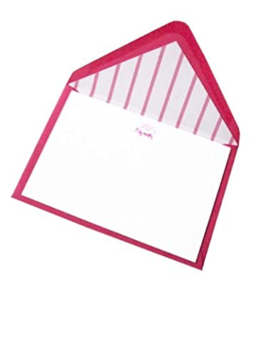 Tartan & Zebra 10 Correspondence cards with pig with wings